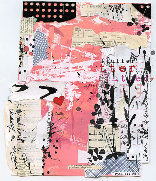 Hybrid mixed media layout using Value Pack: Aflutter by On A Whimsical Adventure