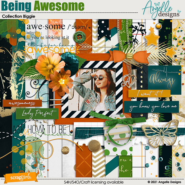 Being Awesome Collection Biggie by Angelle Designs