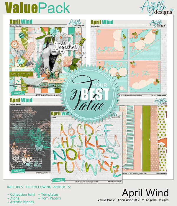 Value Pack: April Wind by Angelle Designs