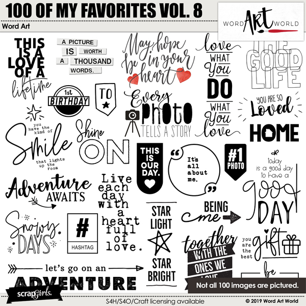 100 of My Favorites Volume 8 Word Art