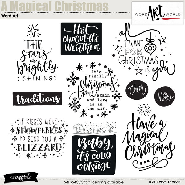 A Magical Christmas Word Art by Word Art World