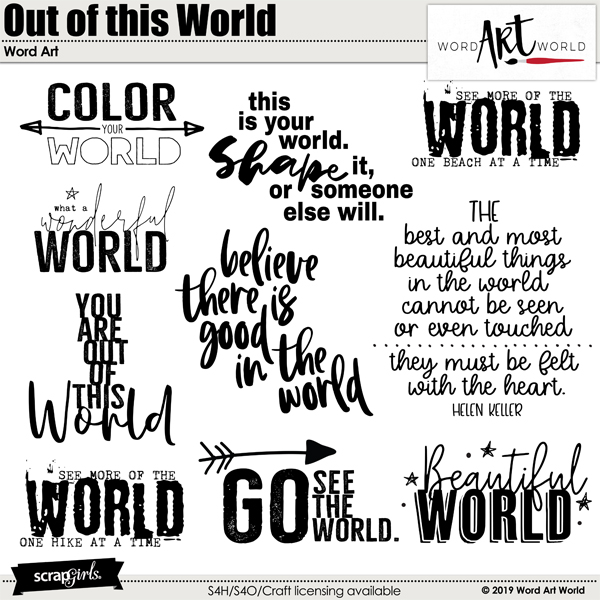 Out of this World Word Art