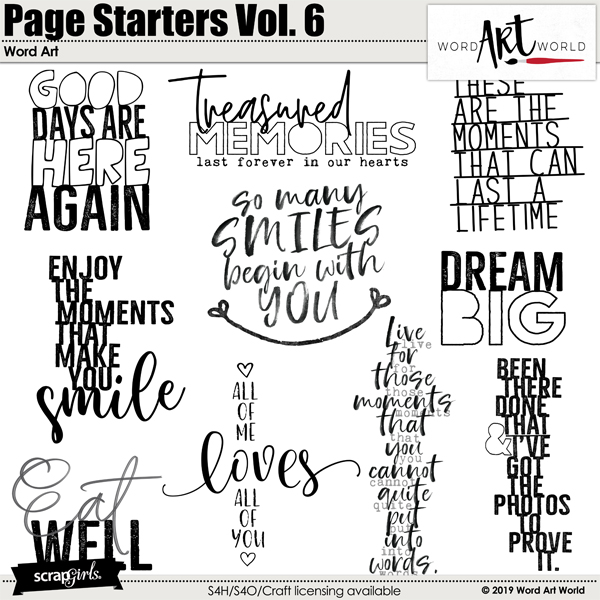 Page Starters Vol. 6 Word Art