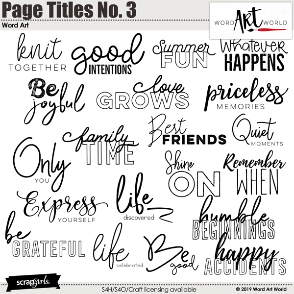 Page Titles No. 3 Word Art