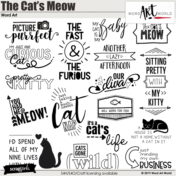 The Cat's Meow Word Art