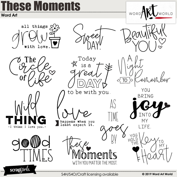 These Moments Word Art