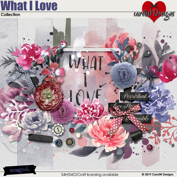 ScrapSimple Digital Layout Collection:What I Love