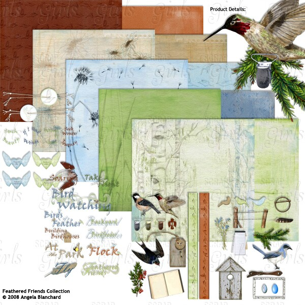 Also See Angela Blanchard's Feathered Friends Collection- Sold Separately