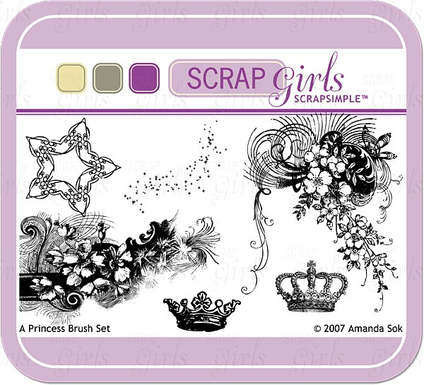 Sold Separately Brush Set: Princess - Commercial License