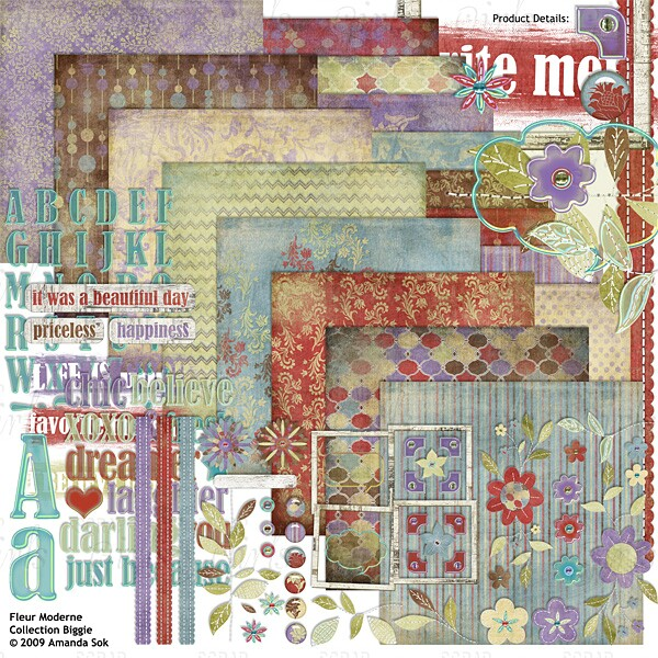 Sold Separately Fleur Moderne Collection Biggie (link to product below)