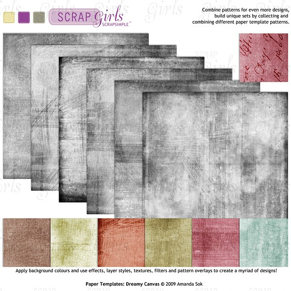 ScrapSimple Paper Templates: Dreamy Canvas