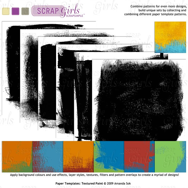 Sold Separately ScrapSimple Paper Templates: Textured Paint (link to product below)