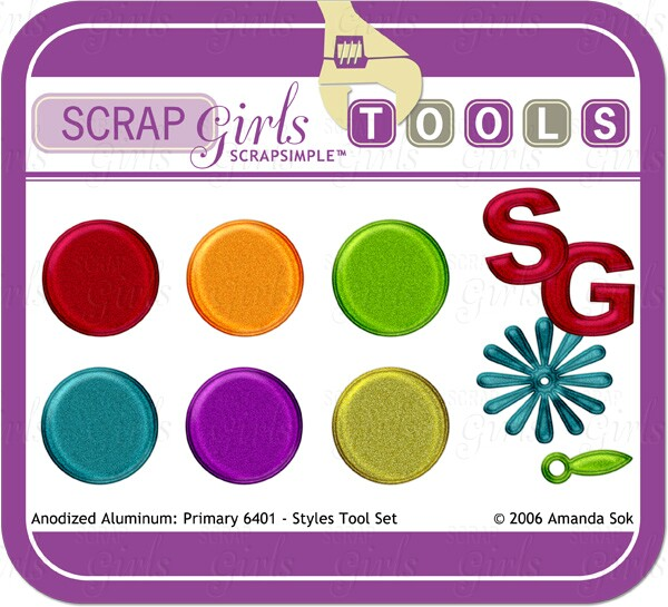 Sold Separately SS Tools -Styles: Anondized Aluminum Primary 6401 - Commercial License