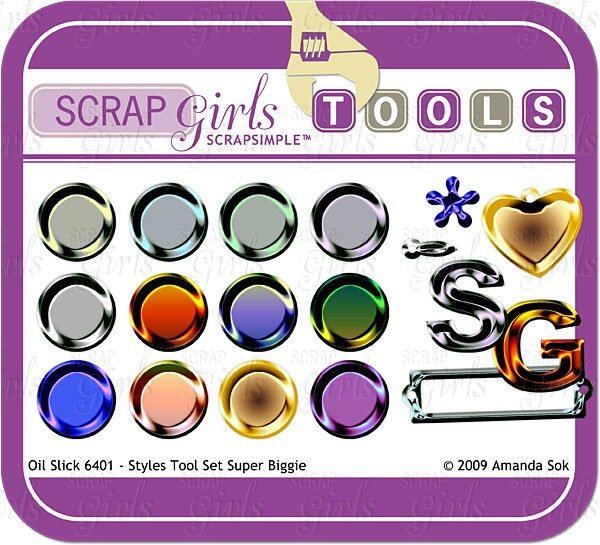 Sold Separately ScrapSimple Tools - Styles: Oil Slick 6401 (link to product below)