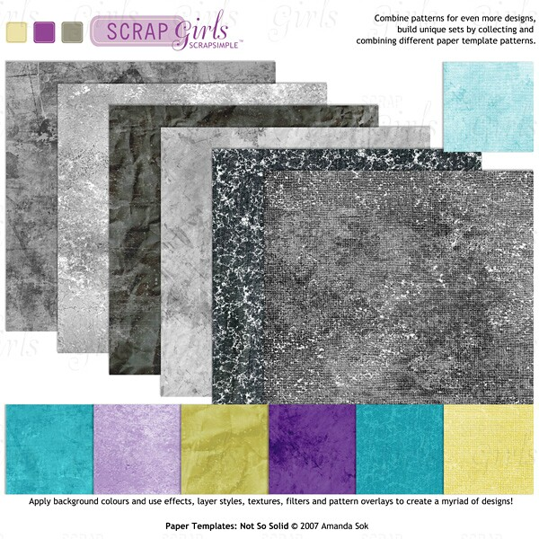 Sold Separately ScrapSimple Paper Templates: Not So Solid (link to product below)