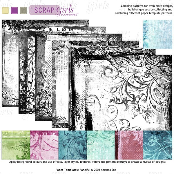 Sold Separately ScrapSimple Paper Templates: Fanciful - Commercial License