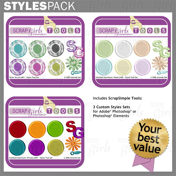 Sold Separately Styles Pack: Anodized Aluminum - Commercial License (link to product below)