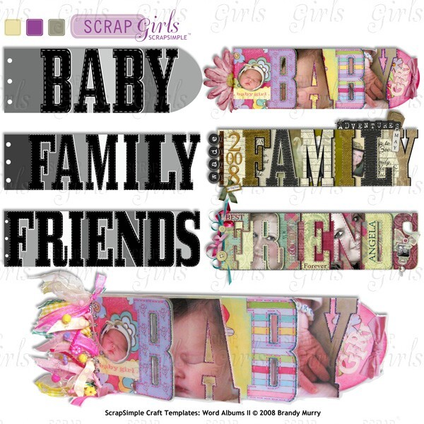 Also Available (Sold Separately) ScrapSimple Craft Templates: Word Albums II