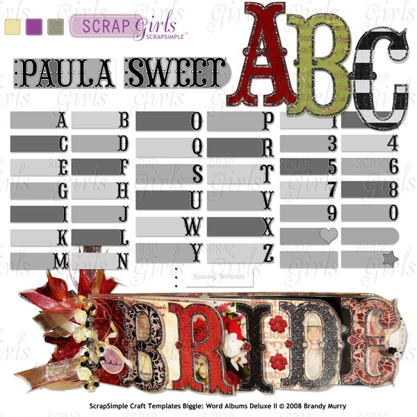 You may also like: ScrapSimple Craft Templates: Word Albums Deluxe II Super Biggie (Sold Separately)
