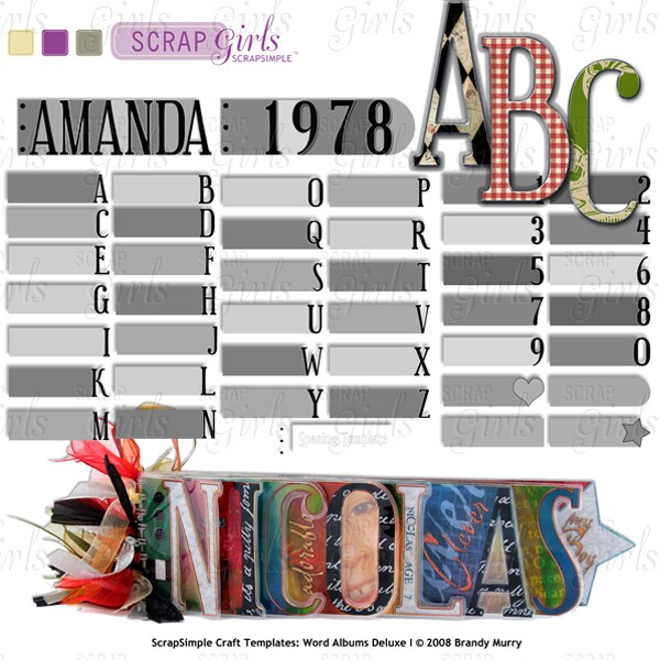 You may also like ScrapSimple Craft Templates: Word Albums Deluxe I Super Biggie (Sold Separately)