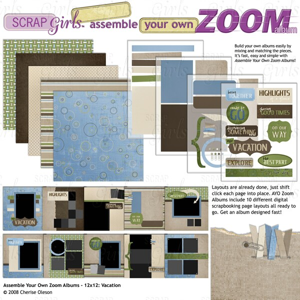 Assemble Your Own Zoom Album - 12x12: Vacation