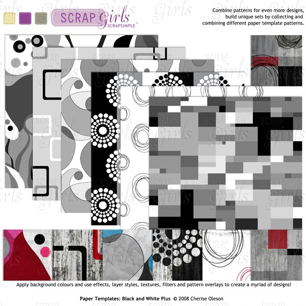 Also available: ScrapSimple Paper Templates: Black and White Plus (sold separately)