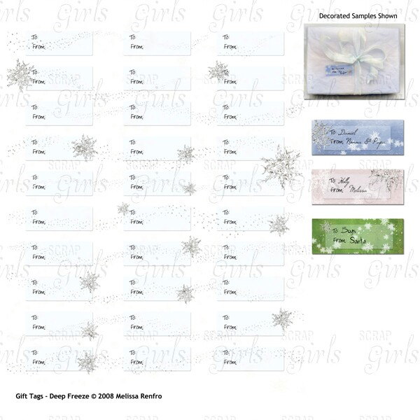 Also Available Craft Gift Tags - Deep Freeze