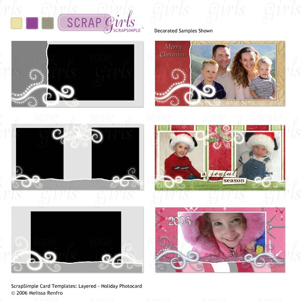 ScrapSimple Card Templates: Holiday PhotoCard