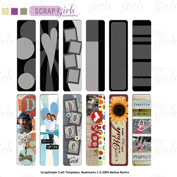 ScrapSimple Craft Templates: Bookmarks 2