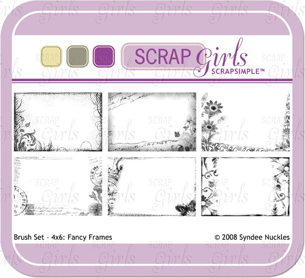 Also available Brush Set - 4x6: Fancy Frames