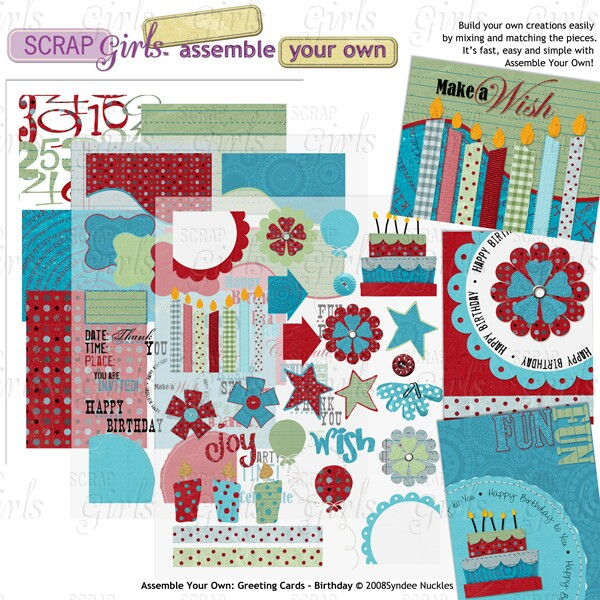 Assemble Your Own: Greeting Cards - Birthday