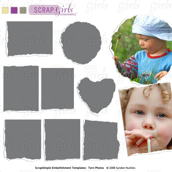 Also available ScrapSimple Embellishment Templates: Torn Photos