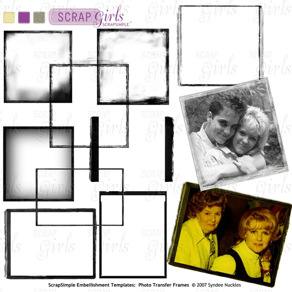 Also available ScrapSimple Embellishment Templates: Photo Transfer Frames