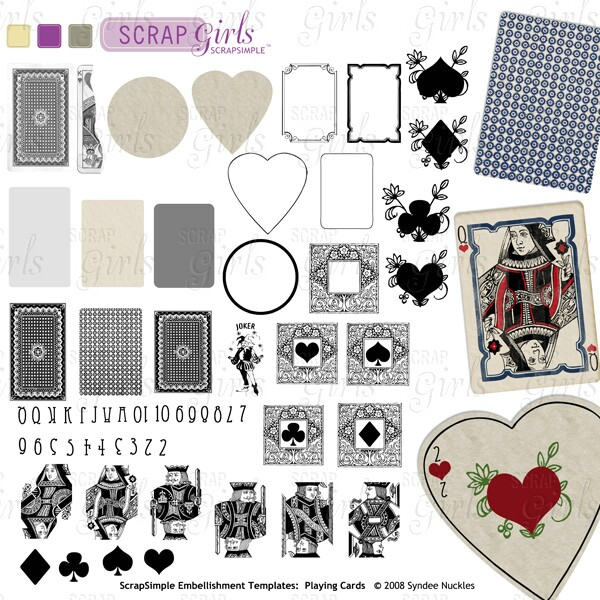 ScrapSimple Paper Templates: Playing Cards