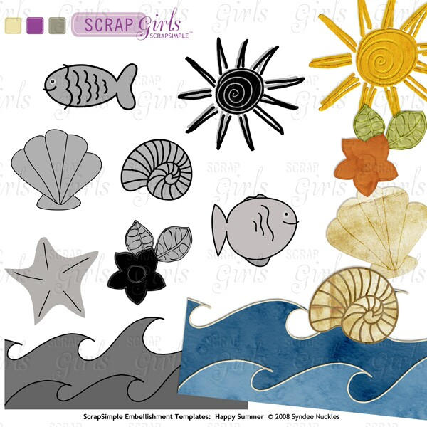 Also Available ScrapSimple Embellishment Templates: Happy Summer