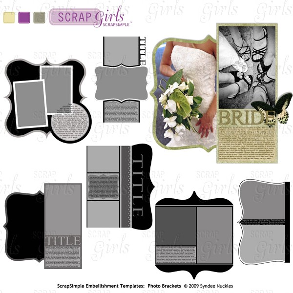 Also available: ScrapSimple Embellishment Templates: Photo Brackets