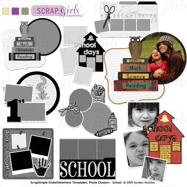 "<a href=""http://store.scrapgirls.com/product/16557/"">ScrapSimple Embellishment Templates:<br />Photo Clusters School</a>"