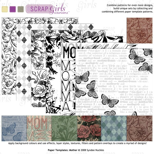 ScrapSimple Paper Templates: Mother