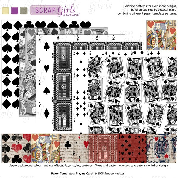 ScrapSimple Paper Templates Playing Cards