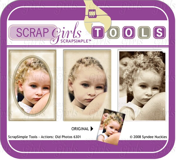 ScrapSimple Tools - Actions: Old Photos 6301