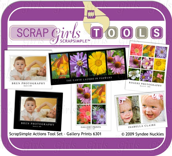 ScrapSimple Tools - Actions: Gallery Prints 6301