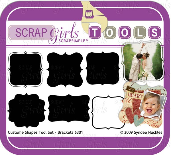 ScrapSimple Tools - Shapes: Brackets 6301