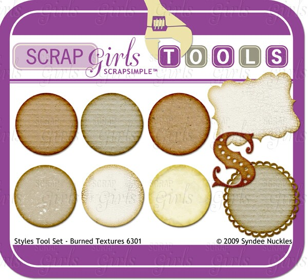 ScrapSimple Tools - Styles: Burned Textures 6301