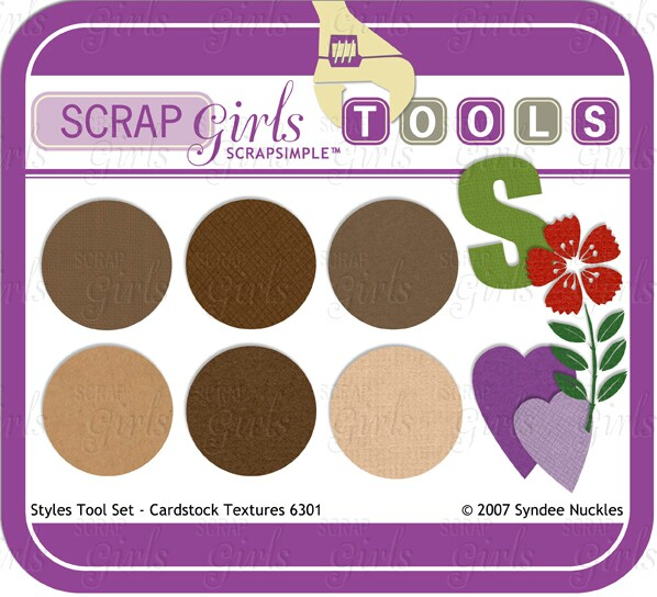 Also available ScrapSimple Tools - Styles: Cardstock Textures 6301