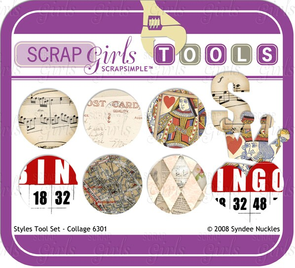 Also available: ScrapSimple Tools - Styles: Collage 6301