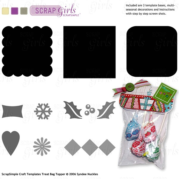 Also available: ScrapSimple Craft Templates: Treat Bag Toppers