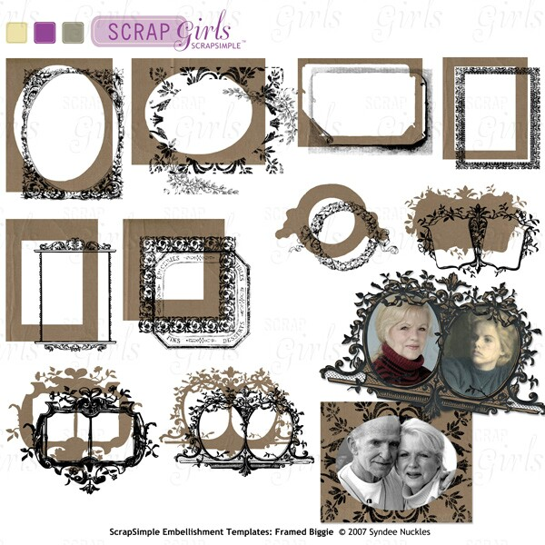 Also available ScrapSimple Embellishment Templates: Framed