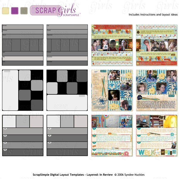Also available: ScrapSimple Digital Layout Templates - Layered: In Review