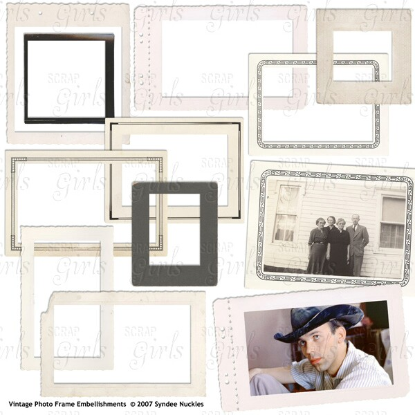 Vintage Photo Frame Embellishments