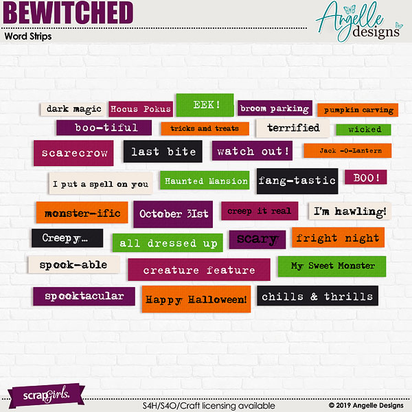 Bewitched Word Strips